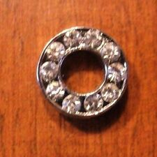 lot de 2 lettres O strass 12x12 mm pour bracelet 8 mm