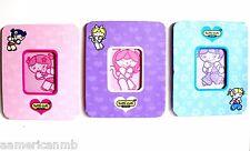 Set of 3 Tutti Cuti Girls Magnetic Picture Frames 3x4 Photo Fridge Magnets New