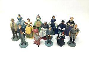 """Lot of 13 Gone With The Wind Figurines by Franklin Mint, 3 1/2"""""""