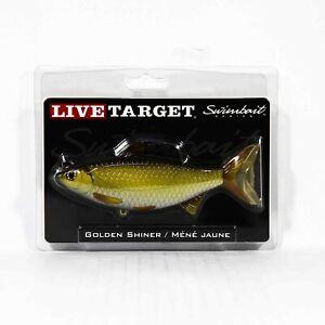 Live Target GSS140MS704 Swimbait Golden Shiner 5.5 Inch Gold Black (9006)