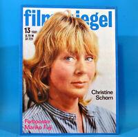 DDR Filmspiegel 13/1981 Die Olsenbande Christine Schorn Billy Wilder J. Blaha Q