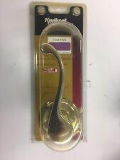 KWIKSET LIDO Polished Brass Left Handed Dummy Door Lever Inactive Handle