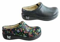 NEW ALEGRIA KAYLA WOMENS COMFORTABLE LEATHER OPEN BACK SHOES