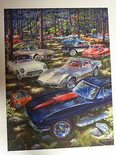 CHEVROLET CORVETTE ART 53 1961 1963 1967 1969 L88 283 327 427 Z06 MICHAEL IRVINE