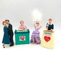 4 I LOVE LUCY Ornament Set Hallmark Keepsake NEW MINT Job Switching in Pictures