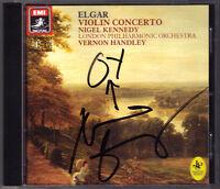 Nigel KENNEDY Signiert ELGAR Violin Concerto VERNON HANDLEY EMI CD Violinkonzert