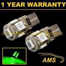 2X W5W T10 501 CANBUS ERROR FREE GREEN 5 LED SIDELIGHT SIDE LIGHT BULBS SL101302
