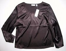 NEW NWT Chico's Design Brown Blouse Shirt 2 Top Woman's