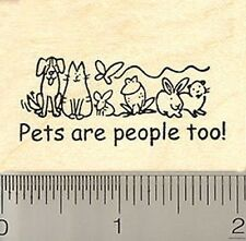 Pets are people too! rubber stamp D8821 WM cat dog ra