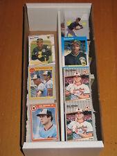 1985 1987 1988 1989 Fleer BASEBALL Base & Inserts LARGE LOT APPROXIMA 1230 CARDS