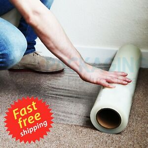 60CM 10/50/100M SELF ADHESIVE CARPET PROTECTION FILM DUST SHEET PROTECTOR ROLLS
