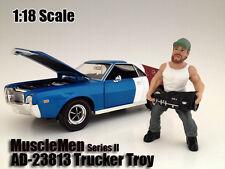 MUSCLEMEN TRUCKER TROY FIGURE 1:18 SCALE DIECAST MODELS AMERICAN DIORAMA 23813