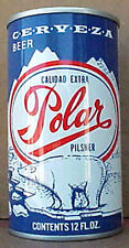 POLAR CERVEZA BEER ss CAN with a BEAR  Hammonton, NEW JERSEY, Grade 1/1+