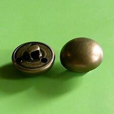 15 Brass Metal Plate Dome Half Ball Military Patriotic Shank Buttons 20mm G123