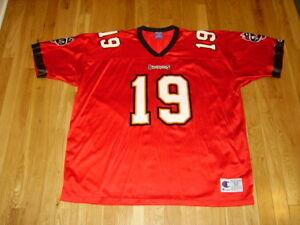 Vtg Champion KEYSHAWN JOHNSON TAMPA BAY BUCCANEERS NFL Football Team JERSEY 52