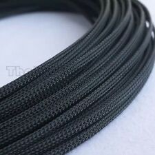 3mm High Density Expandable Braided PET Premium Cable Sleeve 3 Ft USA UV Black