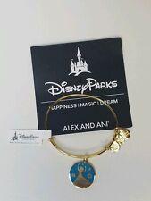 "Disney Parks ALEX and ANI Frozen Elsa ""Be True to Yourself""Gold Bangle Bracelet"