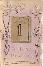 Happy New Year 1907 Illustrated Postcard