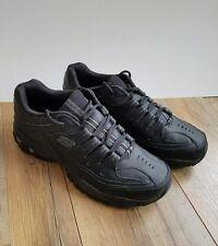 50127 Black Skechers After Burn Memory Fit Glow Logo Shoe Men Sport Leather 11.5