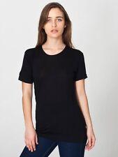 BN American Apparel Unisex Visocse T-Shirt Medium Black