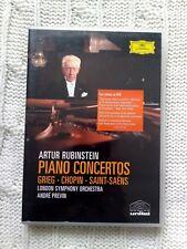 ARTUR RUBINSTEIN PIANO CONCERTOS – DVD R-ALL LIKE NEW FREE SHIPPING IN AUSTRALIA