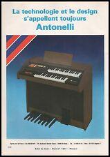 Publicité ANTONELLI Piano orgue Instrument de Musique  photo vintage ad 1981 -1j