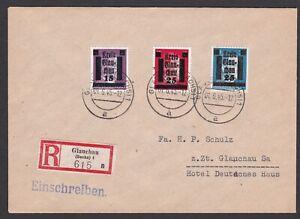 Germany. Local Zone.  Glauchau. Locally addressed Reg. Cover dated 01/6/1945.