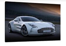 Aston Martin One-77 - 30x20 Inch Canvas - Framed Picture Poster Print