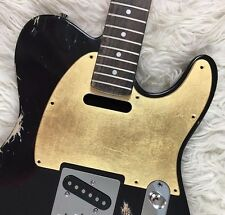Pickguard Fender Telecaster style GOLD LEAF oro GLOSSY S scratchplate battipenna