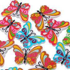50PCS Mariposa botones de madera de costura Button Artesanía de botone