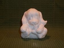 Sitting Puppy with Bone, Doc Holliday Mold  - Ceramic Bisque Ready to Paint