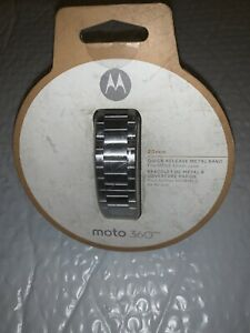 Motorola - Band for Select Motorola Moto 360 Men's Smartwatches - Silver