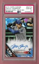 2016 Topps Chrome Blue Refractor Autograph Auto Trayce Thompson RC Rookie PSA 10