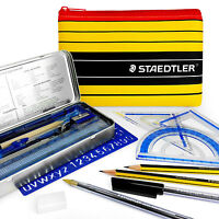 Staedtler - Noris - School Maths Geometry Set + Pencils, Pens, and Pencil Case