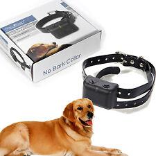 Waterproof Rechargeable MEDIUM LARGE ANTI BARK NO BARKING DOG SHOCK COLLAR E9Z7