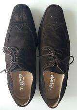 Tremp Suede Dark Brown Suede Oxford Shoes Men's Size 9.5 Euro 43 Narrow
