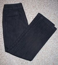 Chico's Platinum Size 1.5 Regular Ultimate Fit Black Denim Trouser Style