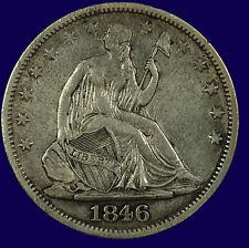 Seated Liberty Silver Half Dollar. 1846 O. Medium Date. EF. Lot # 633-137