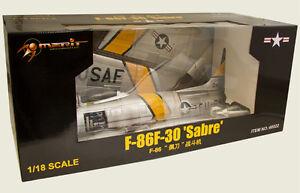 JS International 1/18 USAF F-86F Sabre Jet, MAJ J. Jabara 1953 - JSI-60022