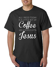 All I Need Is a Little Coffee And a Whole Lotta Jesus T-Shirt, Funny Mascara