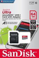 SanDisk Ultra A1 32GB 64GB 128GB microSDXC microSD UHS-I Full HD Memory Card