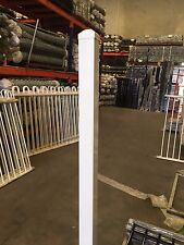 White steel fence post without flange 1800 mm * 50 mm * 50 mm
