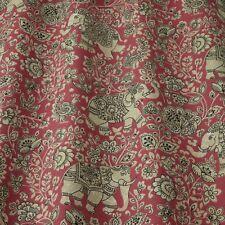 Iliv Samira Indira Chilli Curtain/Uphol Indian Elephant Design Fabric