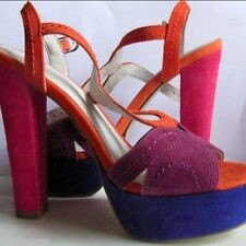 High (3 in. and Up) Strappy Multi-Colored Heels for Women