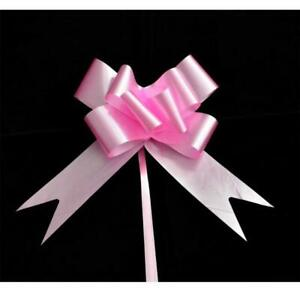 20 x 30mm Pink Pull Bow Gift Wrap Wedding Decoration Large Ribbon Present Bows