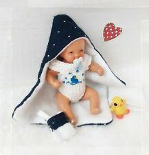 Puppenhaus Puppenkleidung Süßes Baby Badetuch Set 5 teilig  Ooak Ari ES