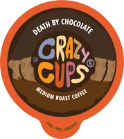Crazy Cups Death By Chocolate Flavored Coffee For Keurig KCups 22 or 80 Count