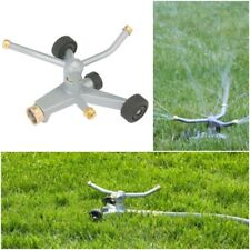 Wheeled Metal base Rotary Lawn Sprinkler Durable Stable Circular Spray Yard