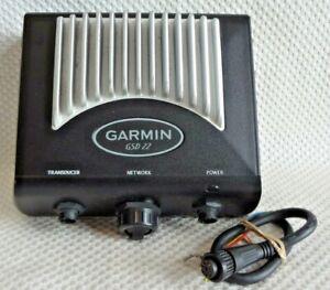 GARMIN GSD 22 DIGITAL SOUNDER SONAR FISH FINDER NETWORK MODULE w POWER CABLE