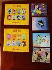 Gambia Disney Mulan 6 Stamp sheet set